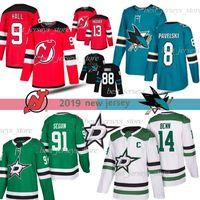 Devils 9Taylor Salão Nico Hischier San Jose Sharks 8 Joe Pavelski Brent Burns Dallas Stars 91Tyler Seguin Jamie Benn Hockey Jerseys