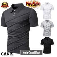 homens Slim Fit Camisas de manga curta Golf T-shirt Casual Algodão Tops camisa Tee Oversized t Tops Vestuário 2,019
