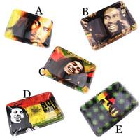 5 Stili Bob Marley Rotolamento vassoio in metallo Tabacco 180x125mm Roll Roll Rotolo Caso di latta Spice Placca Sigaretta Stoccaggio VAPorizer Vaporizzatore