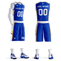 Custom Men Youth Basketball Jerseys Set College Team Trainin...