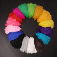 50 pcs por lote 30-35 cm Branco avestruz pluma pluma artesanato material de festa de casamento mesa de mesa Centerpieces decoração frete grátis