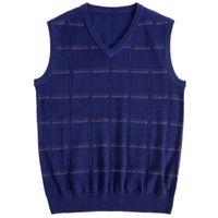 Macrosea homens cor sólida malhas xadrez camisola de lã homens cashmere mistura de lã relaxar fit colete lazer design pullover