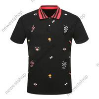 designer de verão 2020 roupas de luxo para homens polo flores bordados cobra animais letra T-shirt ocasionais de abertura de cama colarinho tee camisa camisetas