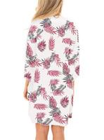 Plage en mousseline de soie crème solaire Fashion-Été Chemisier Floar Imprimé à manches longues Cap Femmes Mode en vrac Manteau Eloignez les vêtements Bask