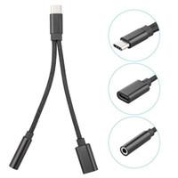 2 3.5mm Ses Jak USB3.1 Şarj Adaptörü Samsung Xiaomi OPPO Tip C için 1 Kulaklık Kablo USB C Adaptör