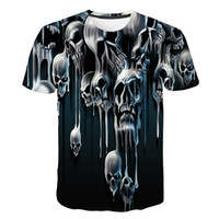 Brand Skull T Shirt Blood Clothes Funny Clothing Hip- hop Tee...