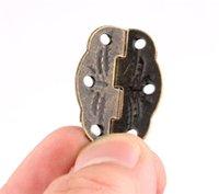 Nuevo hogar de 30 mm x 22 mm bronce Mini mariposa puerta Bisagras cajón del gabinete de la caja de joyería de la bisagra con tornillos para hardware de los muebles