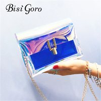 Bisi Goro 2018 Jelly Transparent PVC Bag Handbag Women Bag Clear Party Candy Color Tote Purse Bolsa Crossbody