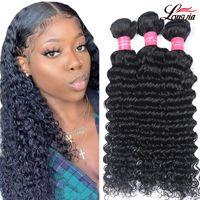 Brazilian Virgin Human Hair Wave profundo 3/4 pacote de oferta 9a virgem brasileira profundamente encaracolado cabelo humano cabelo brasileiro cabelo profundo