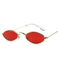 الجملة-الرجعية الصغيرة البيضاوي نظارات المرأة الإناث خمر الهيب هوب النظارات خمر سيدة سفر شاطئ إطار نظارات TTA1120