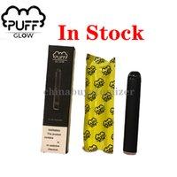 Hochwertige Puff Glow Einweg Vape Geräte Pod Starter Kit 500 PUFF GLOW 1,4 ml 280mAh Batterie-LED-Licht mit Sicherheits-Code