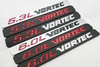 2PCS 5.3L 6.0L فورتيك شارة شعارات 3D ملصق 1500 2500HD GMC سيلفرادو شاحنة أسود أبيض أحمر كروم