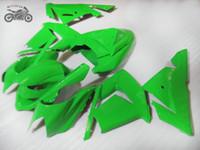 Настроить мотоцикл обтекатель комплекты для Kawasaki Ninja 2004 2005 ZX-10R полный зеленый дорожная гонка ABS обтекатели кузова ZX10R 04 05 ZX 10R