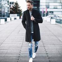 Giacche modo ispessisce il vello di lana 2019 invernali più nuovi uomini Blends Clothestrench in Streetwear Warm Coat 3XL