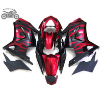 Free kundenspezifisches fairings Injection-Set für Kawasaki Ninja 250R ZX250R ZX 250 2008-2014 EX250 08-14 rote Flammen Straßenrennen Verkleidung Karosserie AB8