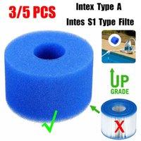 3/5 Stück Pool Schaumfilter Schwamm Wiederverwendbare Waschbar Biofoam Reiniger Pool-Schaumfilter Intex S1 Typ A Swim Accessorie