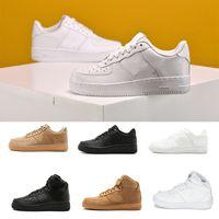 Marka İndirim Erkekler Kadınlar Flyline Kuvvetleri Koşu Ayakkabıları Spor Kaykay Onları Ayakkabı Yüksek Düşük Kesim Beyaz Siyah Açık Eğitmenler Sneakers 035