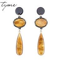 Atacado-Brincos Fashiom jóias vintage longo brincos para mulheres pedra Christmas Gift Boucles d'oreille pendientes