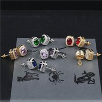 Earrings Stud Jewelry Street Fashion Multicolor Bling Zircon...