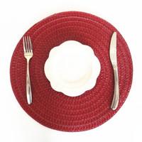 Promozione speciale di 2ps di rilievo popolare internazionale della cucina del cuscinetto dell'isolamento termico della Tabella del cuscino rotondo rosso vino