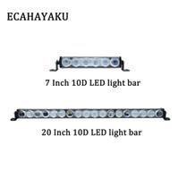 ECAHAYAKU 7 pulgadas 30W 20 90W pulgadas Super Slim newdesign luz LED Bar viga de punto niebla de la linterna LED luz de conducción del trabajo de ATV bar
