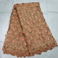 High Quality Nigerian Lace Fabrics With Stones African Frenc...