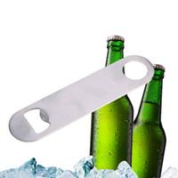 大型フラットステンレススチールビールボトルキャップバーブレードオープナーツール名刺ビールオープナー多機能ボトルオープナー