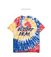 2019 mens di marca stilista maglietta nuovo tie dye colore creativo lettera stampa casuale personalizzata manica del bicchierino maglietta WGTX207