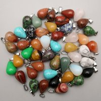 Fancy TEAR- DROP natural Stone Gemstone Pendants High Polishe...