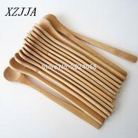 Venta al por mayor 15pcs 7 .5inch Spoon de madera Ecofriendly Japón Vajilla Cuchara de bambú Scoop Coffee Honey Tea Ladle Stirrer Mejor Calidad