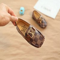 Baby Little Leather Shoe children PU soft bottom shoes Boys ...