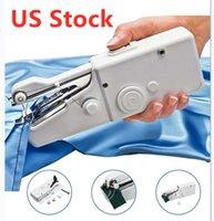 미국 주식 DIY 휴대용 가정용 미니 핸드 미싱 빠른 스티치 바느질 바느질 무선 의류 직물 전자 재봉틀