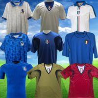 빈티지 월드컵 레트로 축구 유니폼 1990 홈 축구 1994 Jersey Maldini Baggio Donadoni Schillaci Totti del Piero 2006 Pirlo Inzaghi Buffon 2000