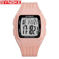 SYNOKE Men Fashion Sport Orologio elettronico da donna Running Man LED Display Water Resistant Digital Wristwatches Orologio luminoso