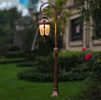 Europa Clássica de Iluminação Ao Ar Livre Retro Jardim Luz Led Lâmpada de Rua Lâmpada De Vidro De Alumínio À Prova D 'Água Paisagem Luminárias LLFA