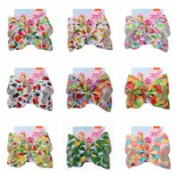 키즈 과일 시리즈 바 너트 머리 머리핀 인쇄 여자 다채로운 과일 바우 타이 봄 머리 장식 머리핀 어린이 바둑쥐 머리 클립 DH1086