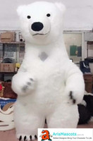 Inflatable Suit Polar Bear Mascot Costume for Party Theme Pa...
