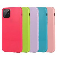 2MM caramelo de la jalea del color brillante TPU iPhone cubierta del caso para el 11 Pro Max XR XS X 8 7 6 Plus Samsung S10 S10e Nota 10 10+ A10 A20 A30 A50 A70