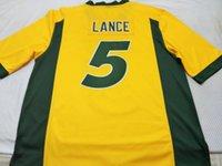 사용자 정의 남성 청소년 여성 ND 주 들소 트레이 랜스 # 5 축구 유니폼 사이즈 S-4XL 또는 사용자 정의 어떤 이름이나 번호 저지