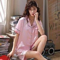 Plus satinado ropa de dormir camisón sedoso ShirtPants casa Ropa de Tamaño 3XL pijama traje de la ropa de noche Pares ocasionales Men'sWomen