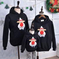 2019 зимняя семья одежда свитер одежда теплый папа сын толстовки подходящие мать дочь одежда