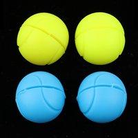 2 زوج شكل الكرة دائم مضارب امتصاص الصدمات مضرب تنس سلسلة مخمدات مناسبة للتنس المضرب