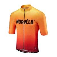 Bisiklet Jersey Morvelo Takım MTB Bisiklet Gömlek Erkek Kısa Kollu Yaz Dağ Bisiklet Üniforma Maillot Ropa Ciclismo Yarış Giyim Y21052712