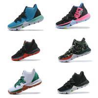 online retailer 5a74d ef77e Günstigster Großhandels-Tropfenverschiffen Irving 5 V Mehrfarben-Herren- Basketball-Schuh-Sport