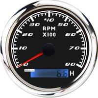 8000 RPM 85mm Marina Barco Tacómetro Medidor Tacho LCD del metro contador horario