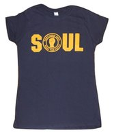 LADIES NORTHERN SOUL KEEP THE FAITH T SHIRT IN NAVY BLUEFunn...