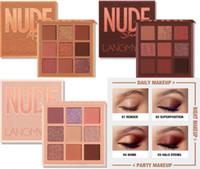 Langmanni magische Lidschatten-Palette Nude Wüste leicht zu tragen Perlglanz Matte Kosmetik Make-up 9 Farbe Lidschatten-Palette