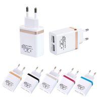 5V 2.1 / 1A الولايات المتحدة الاتحاد الأوروبي قابس USB الجدار شاحن لفون × XR 8 7 6 5 محول الهاتف الخليوي
