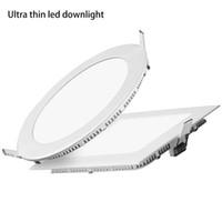 رقيقة جدا أضواء LED أسفل راحة ضوء السقف النازل 3W 4W 6W 9W 12W 15W 18W جولة لوحة مربع ضوء مصابيح الإضاءة في الأماكن المغلقة