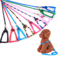 Adjustable Nylon dog leash and harness set for small dogs co...